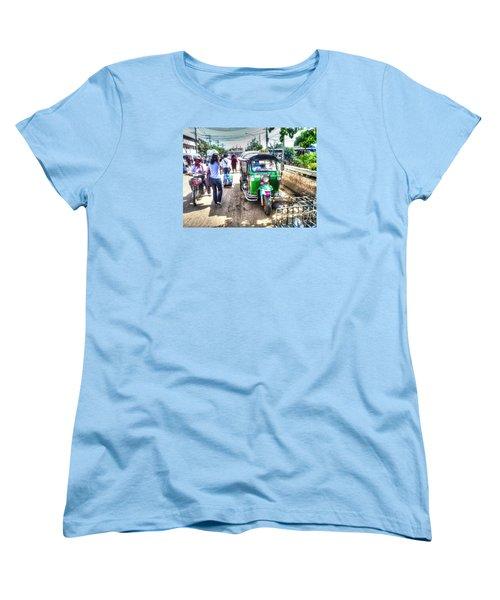 Women's T-Shirt (Standard Cut) featuring the pyrography Yury Bashkin Street Ost by Yury Bashkin