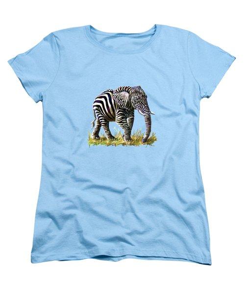 Zebraphant Women's T-Shirt (Standard Cut) by Anthony Mwangi