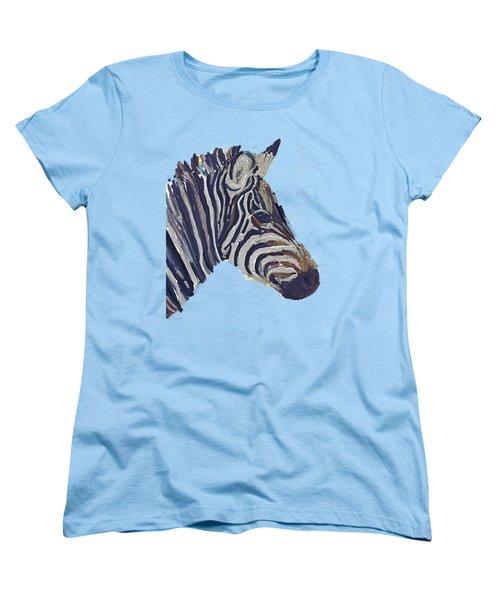 Zebra 2 Women's T-Shirt (Standard Cut) by Zilpa Van der Gragt
