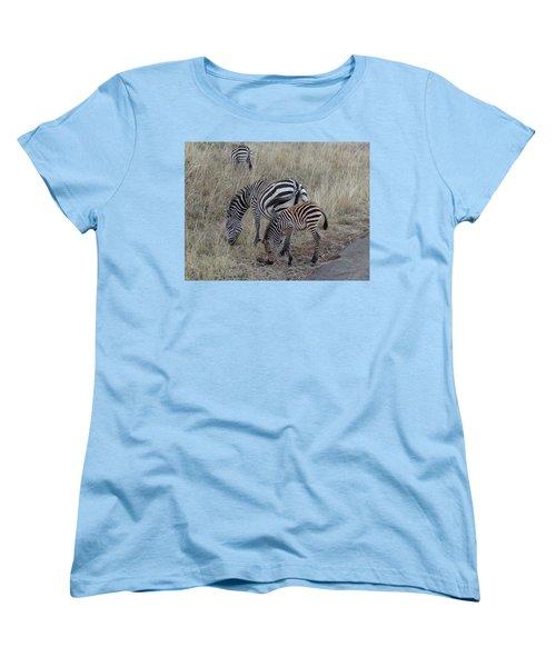 Zebras In Kenya 1 Women's T-Shirt (Standard Cut) by Exploramum Exploramum