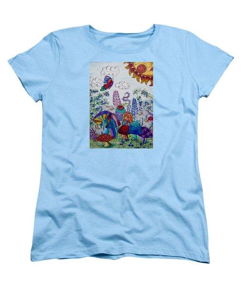 Zentangle Garden Women's T-Shirt (Standard Cut) by Megan Walsh