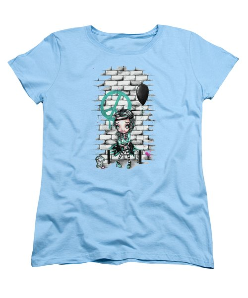 Women's T-Shirt (Standard Cut) featuring the painting Ziggy by Lizzy Love