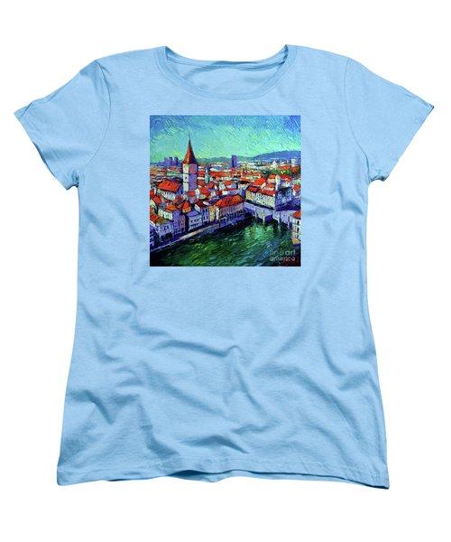 Zurich View Women's T-Shirt (Standard Cut)