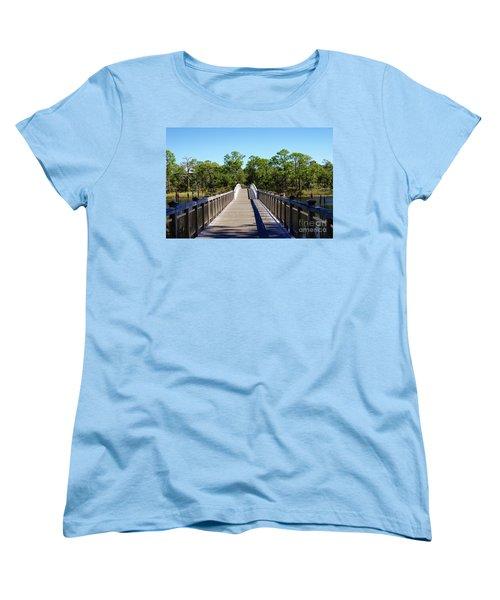 Western Lake Bridge Women's T-Shirt (Standard Fit)