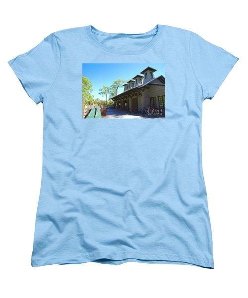 Boathouse In Watercolor Women's T-Shirt (Standard Fit)