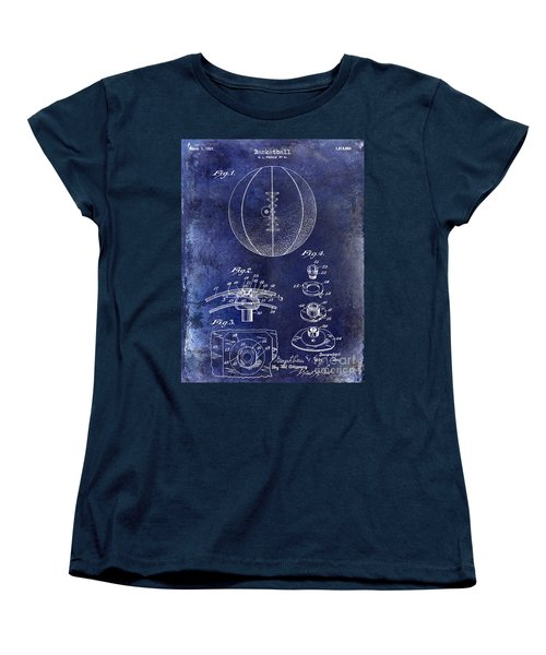 1927 Basketball Patent Drawing Blue Women's T-Shirt (Standard Cut)