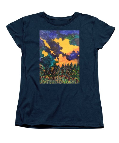 A Hotshot Fire Women's T-Shirt (Standard Cut) by Erika Chamberlin
