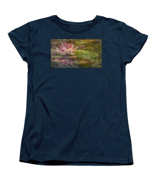 Women's T-Shirt (Standard Cut) featuring the painting  A Splash Of Lily by PainterArtist FIN