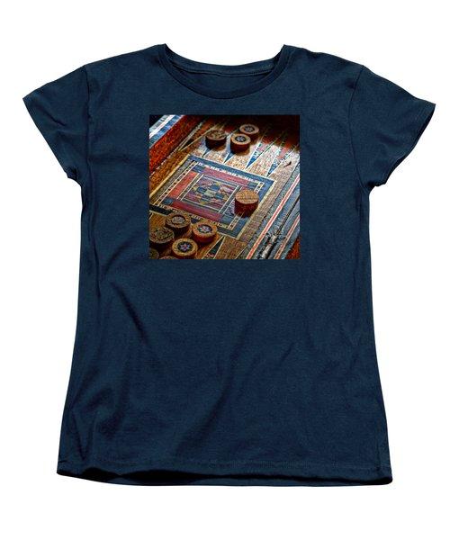 Backgammon Women's T-Shirt (Standard Cut) by Beverly Cash