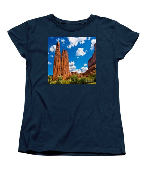 Canyon De Chelly Spider Rock Women's T-Shirt (Standard Cut) by Bob and Nadine Johnston