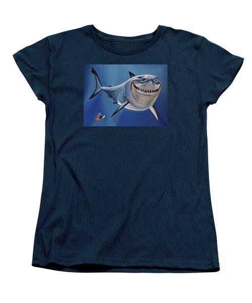 Finding Nemo Painting Women's T-Shirt (Standard Cut) by Paul Meijering
