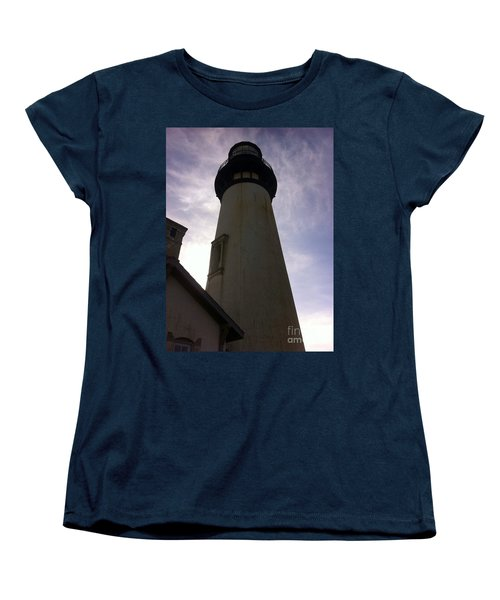 Women's T-Shirt (Standard Cut) featuring the photograph  Light House Sky by Susan Garren
