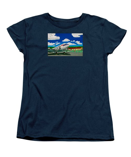 Portsmouth Ohio Airport And Lake Central Airlines Women's T-Shirt (Standard Cut) by Frank Hunter