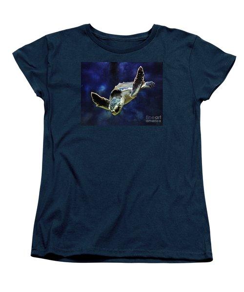 Women's T-Shirt (Standard Cut) featuring the photograph  Sea Turtle by Savannah Gibbs