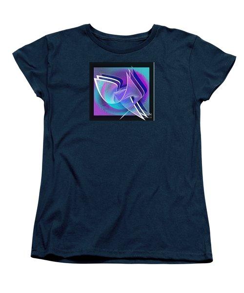 Twisted Linen Women's T-Shirt (Standard Cut) by Iris Gelbart