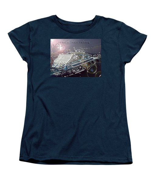 Women's T-Shirt (Standard Cut) featuring the digital art  Yacht Art by Rogerio Mariani