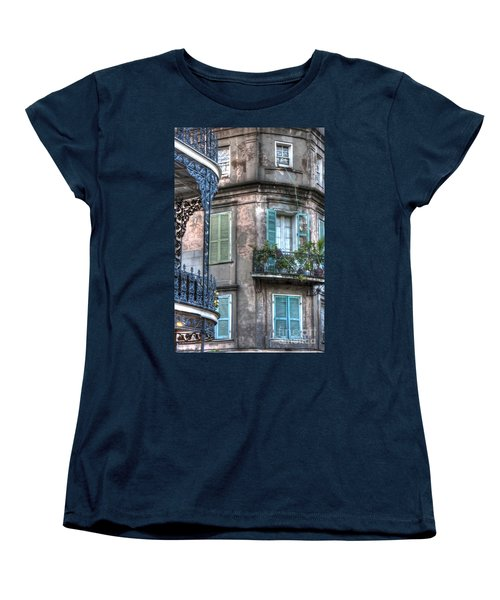 0254 French Quarter 10 - New Orleans Women's T-Shirt (Standard Cut) by Steve Sturgill