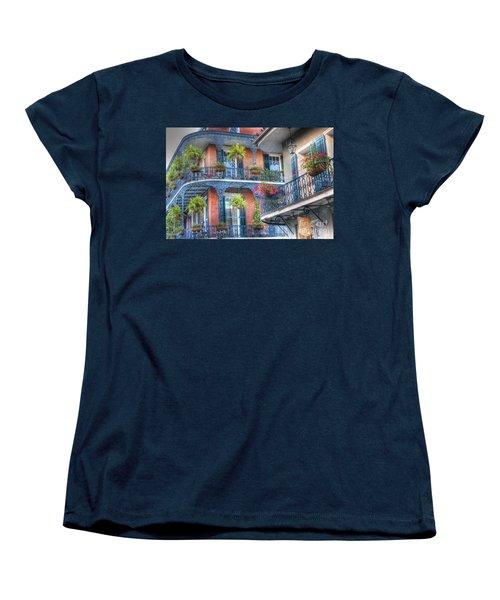 0255 Balconies - New Orleans Women's T-Shirt (Standard Cut) by Steve Sturgill