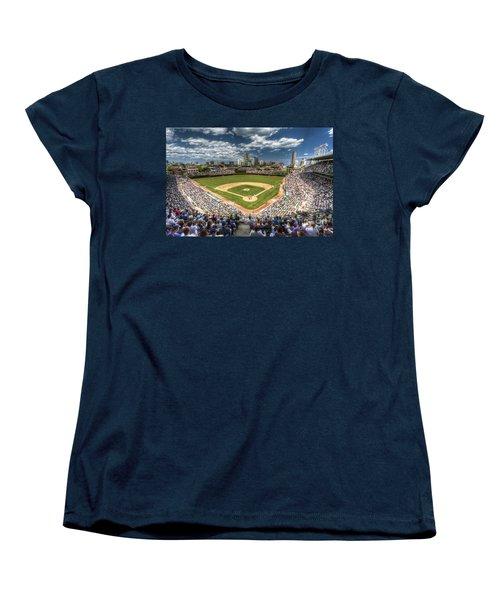 0443 Wrigley Field Chicago  Women's T-Shirt (Standard Cut) by Steve Sturgill
