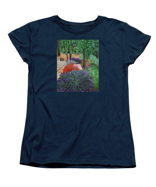 A Garden To Remember Women's T-Shirt (Standard Cut) by Donna  Manaraze