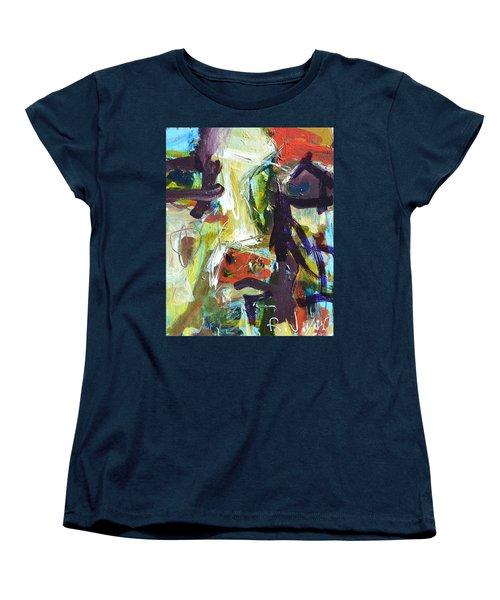 Abstract Cow Women's T-Shirt (Standard Cut) by Robert Joyner