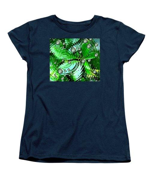 Amazing. Abstract Art. Green Grey  Blue Yellow  Women's T-Shirt (Standard Cut)