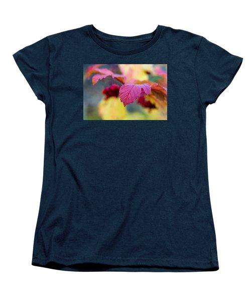 Arrowwood Leaf - Featured 3 Women's T-Shirt (Standard Cut) by Alexander Senin