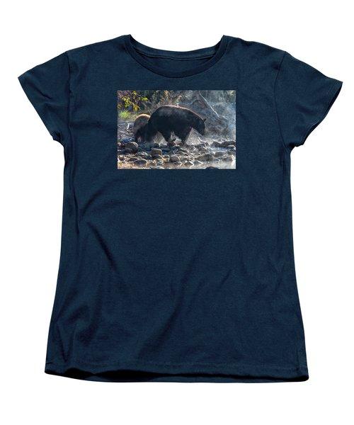 Bouldering Women's T-Shirt (Standard Cut) by Scott Warner