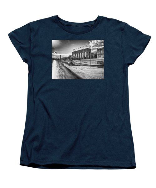 Women's T-Shirt (Standard Cut) featuring the photograph Canal Walk by Howard Salmon