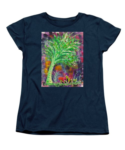 Women's T-Shirt (Standard Cut) featuring the painting Celery Tree by Holly Carmichael