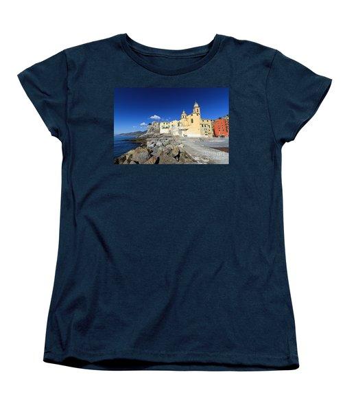 Women's T-Shirt (Standard Cut) featuring the photograph church in Camogli by Antonio Scarpi