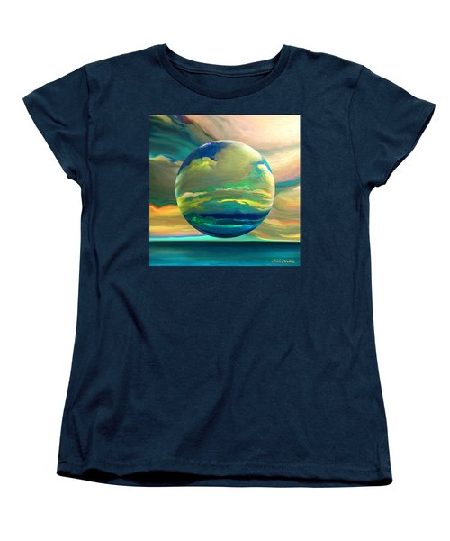 Women's T-Shirt (Standard Cut) featuring the digital art Clouding The Poets Eye by Robin Moline