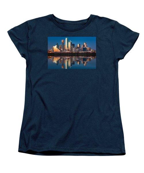 Dallas Skyline Women's T-Shirt (Standard Cut) by Mihai Andritoiu