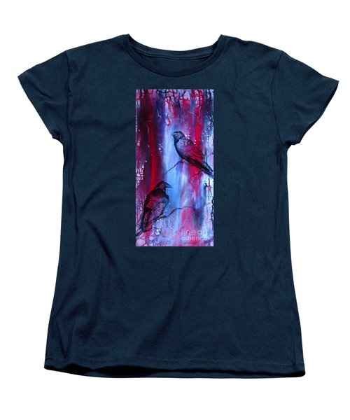 Dark Wings Women's T-Shirt (Standard Cut) by Laurianna Taylor