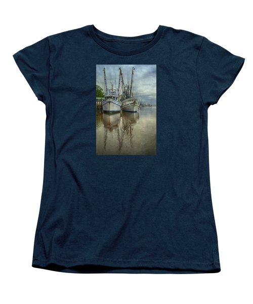 Women's T-Shirt (Standard Cut) featuring the photograph Docked by Priscilla Burgers