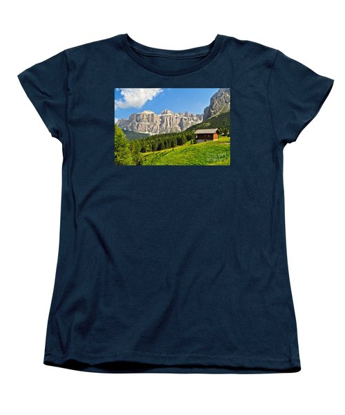 Dolomiti - High Fassa Valley Women's T-Shirt (Standard Cut) by Antonio Scarpi
