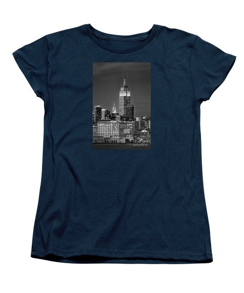 Empire And Chrysler Buildings Women's T-Shirt (Standard Cut) by Jerry Fornarotto