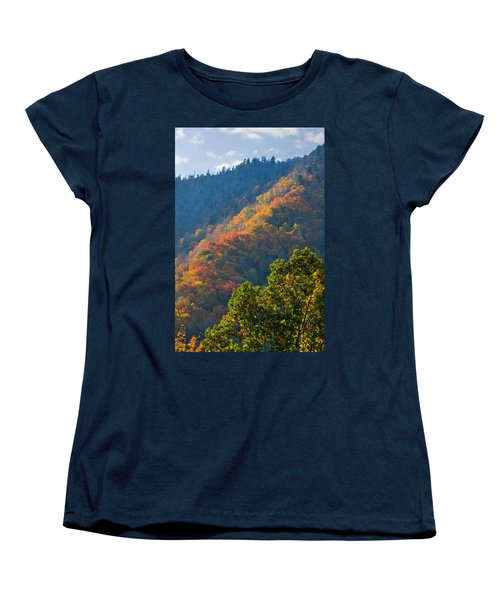 Fall Smoky Mountains Women's T-Shirt (Standard Cut) by Melinda Fawver