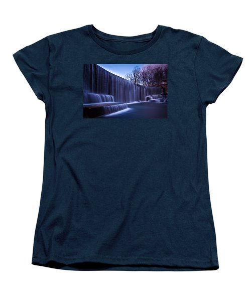 Women's T-Shirt (Standard Cut) featuring the photograph Falling Water by Mihai Andritoiu