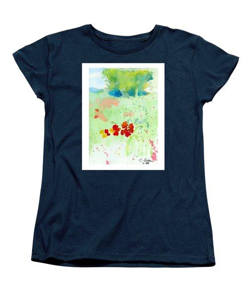 Field Of Flowers Women's T-Shirt (Standard Cut) by C Sitton