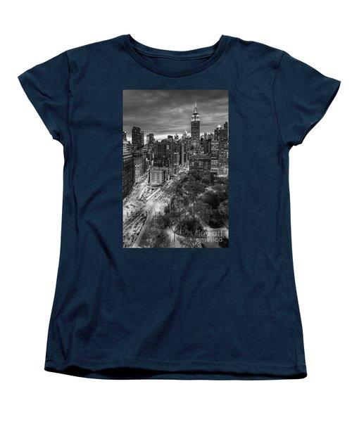 Flatiron District Birds Eye View Women's T-Shirt (Standard Cut) by Susan Candelario