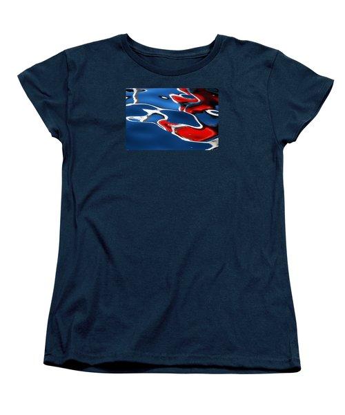 Floating On Blue 5 Women's T-Shirt (Standard Cut) by Wendy Wilton