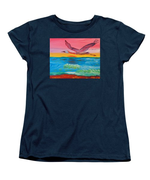 Flying Free Women's T-Shirt (Standard Cut) by Meryl Goudey