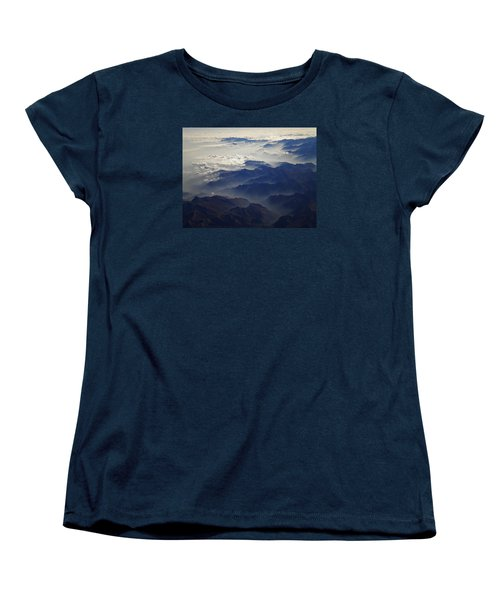 Flying Over The Alps In Europe Women's T-Shirt (Standard Cut) by Colette V Hera  Guggenheim