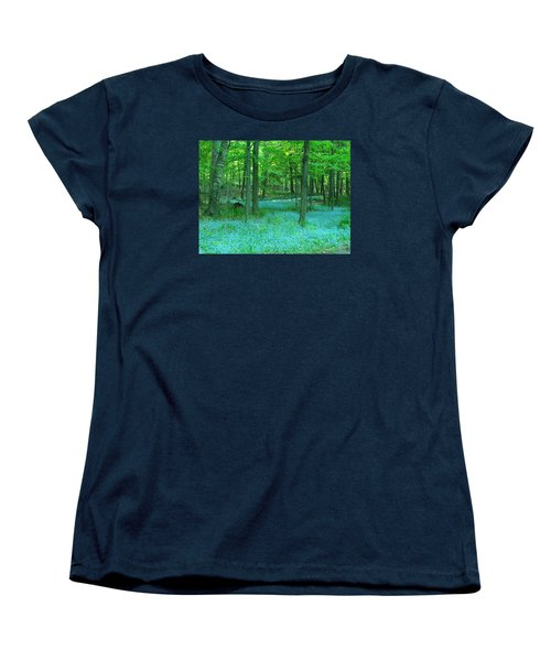 Forget-me-nots In Peninsula State Park Women's T-Shirt (Standard Cut) by David T Wilkinson