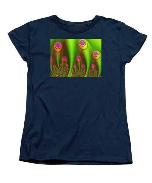 Fractal Fantasy Garden Women's T-Shirt (Standard Cut) by Gabiw Art