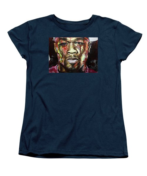 Women's T-Shirt (Standard Cut) featuring the painting Get Rich Or Die Tryin' by Laur Iduc