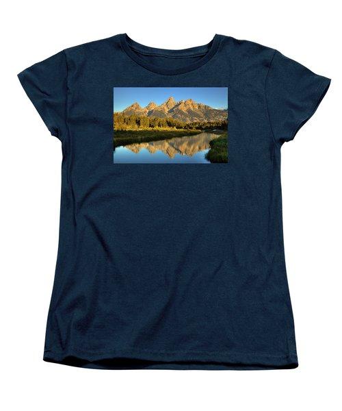 Women's T-Shirt (Standard Cut) featuring the photograph Grand Teton by Alan Vance Ley