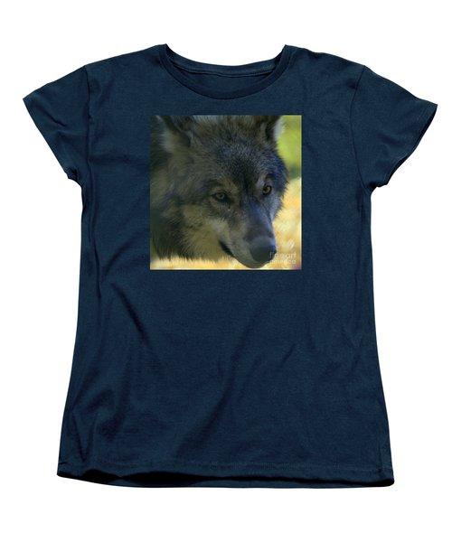 Gray Wolf Women's T-Shirt (Standard Cut) by Neal Eslinger