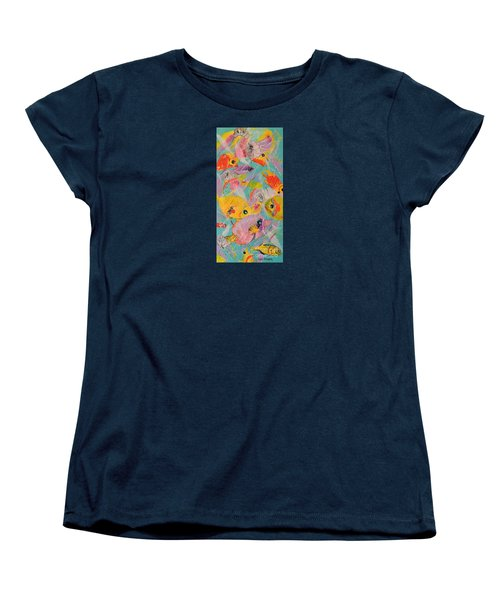 Women's T-Shirt (Standard Cut) featuring the painting Great Barrier Reef Fish by Lyn Olsen